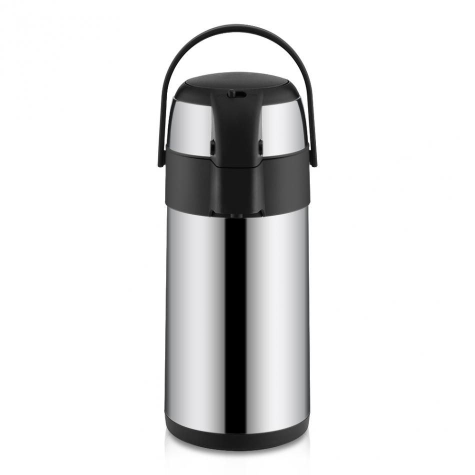 3L Stainless Steel Coffee Pot Vacuum Insulated Airpot Coffee Dispenser with Pump Home Office Tea ...