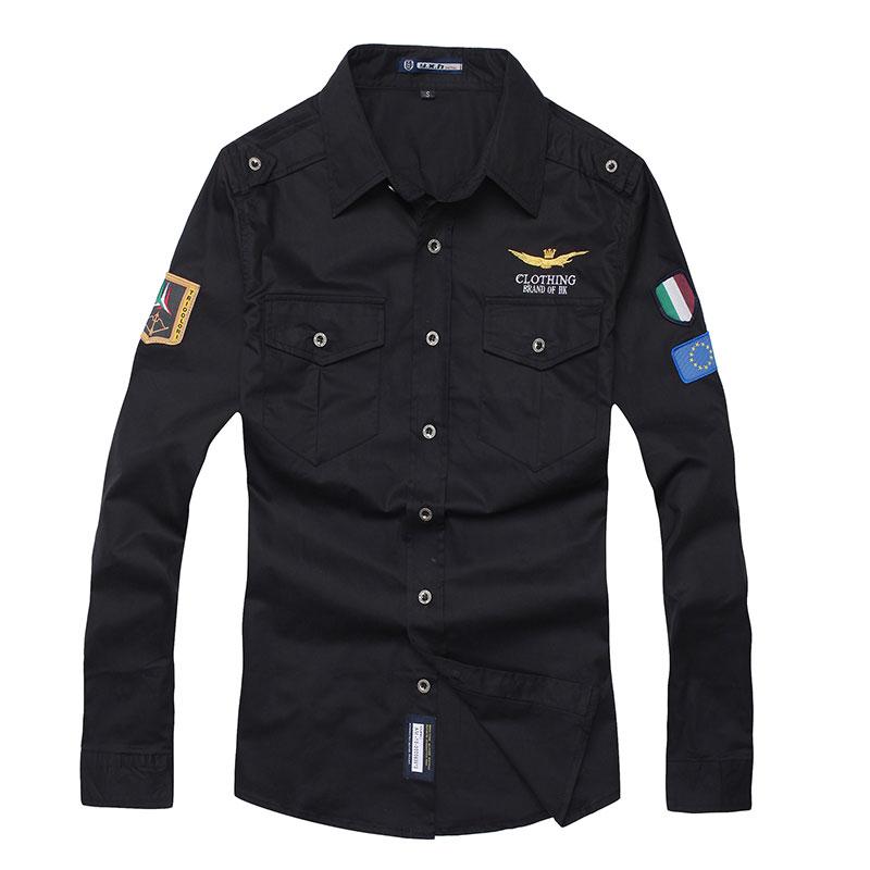 2016 New Fashion Casual Men Shirt Long Sleeve Elastic Slim Fit Black Cotton Shirt Men Solid Color Mens Dress Shirts Men Clothes