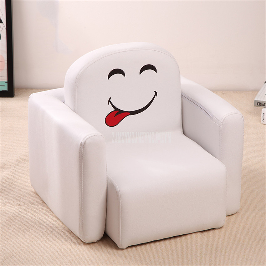Cute Baby Kids Lazy Sofa Sponge Filler Solid Wood Frame Soft Seat Chair Handrail Separable As Desk Children Baby Sofa Chair