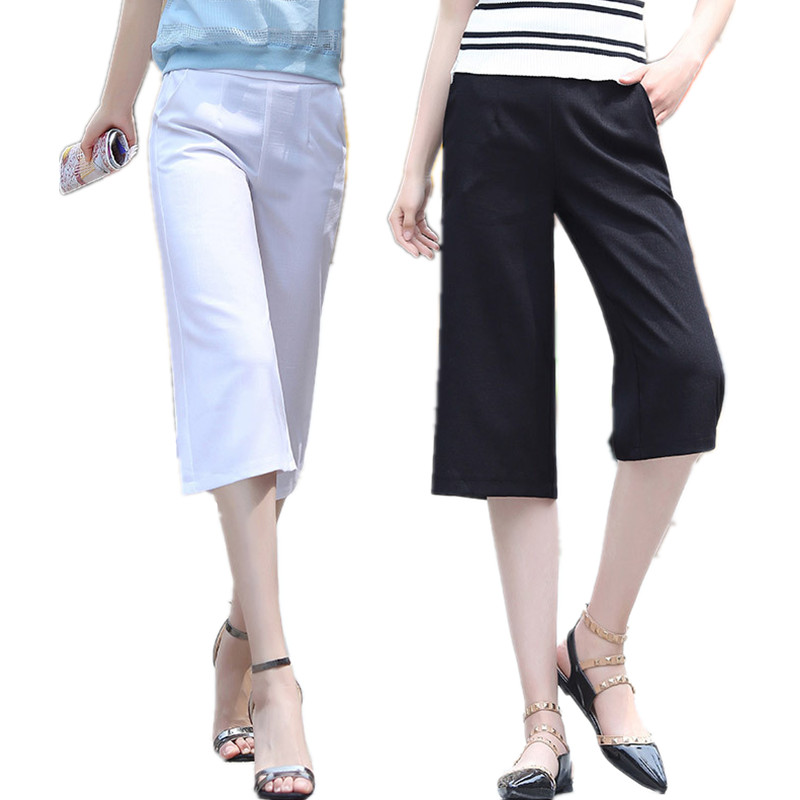High Quality Black Linen Capris Promotion-Shop for High Quality ...