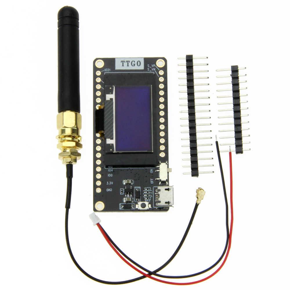 TTGO LORA32 V2 0 433/868/915Mhz ESP32 LoRa OLED 0 96 Inch SD Card Blue  Display Bluetooth WIFI ESP32 ESP-32 Module with Antenna