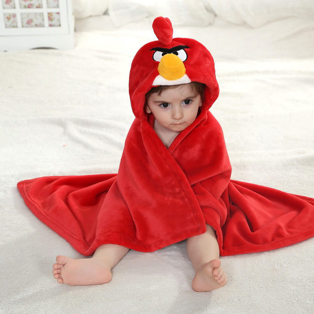 New Baby Blankets Size 90*80cm  Cartoon Red Bird Warm Blanket High Quality Receiving Blanket For Newborn 0-2 Years Unisex