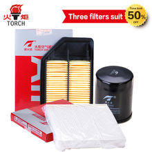 TORCH(Oil filter/air filter/cabin filter)three filters suit  for  HONDA JAZZ FIT 1.3GD1 (L13A1); Free shipping.