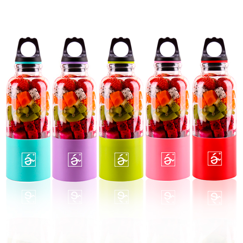 USB DC 5V Electric Portable Juice Cup Mini Multifunctional Fruit Juice Extractor Rechargeable Juicer Cup With 4 Blade&2 Battery glantop 2l smoothie blender fruit juice mixer juicer high performance pro commercial glthsg2029