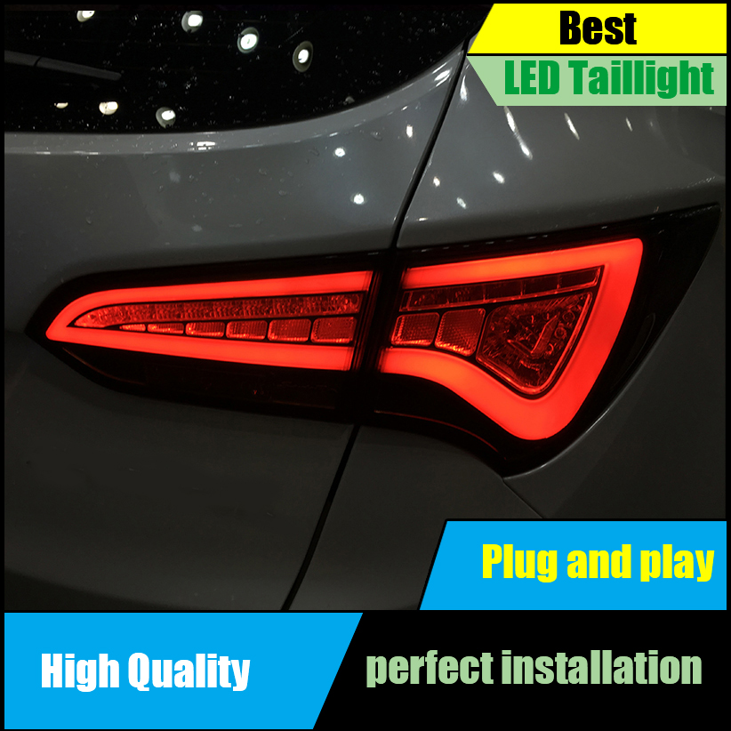 Car Styling Tail Lamp For Hyundai SantaFe IX45 LED Tail Lights 2013 2014 2015 Rear Lamp Taillight Brake+Park+Signal Light one stop shopping styling for ix45 led tail lights 2014 new santa fe ix45 tail light rear lamp drl brake park signal