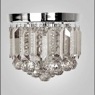 ФОТО fashion modern Dia 15/20/25/35/40cm clear/champange K9 crystal led ceiling light for aisle entrance 1912