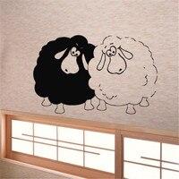 מדבקות קיר ויניל מדבקות מדבקת אמנות חדר ילדים דקור כבשים בעלי חיים שני מצחיקים