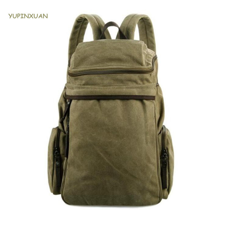 YUPINXUAN Unisex Canvas Backpacks for Teenagers Fashion Men Women School Bags 15.6 Laptop Backpack Youth Daypacks High Capacity