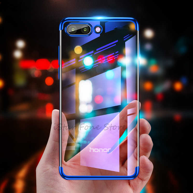 Plating Soft TPU Case For Huawei Honor 8X Max 8C 7A 7C 6C Pro 10 8 9 Lite Silicone Clear Cover For Honor 9 7X V10 V9 Play Capa