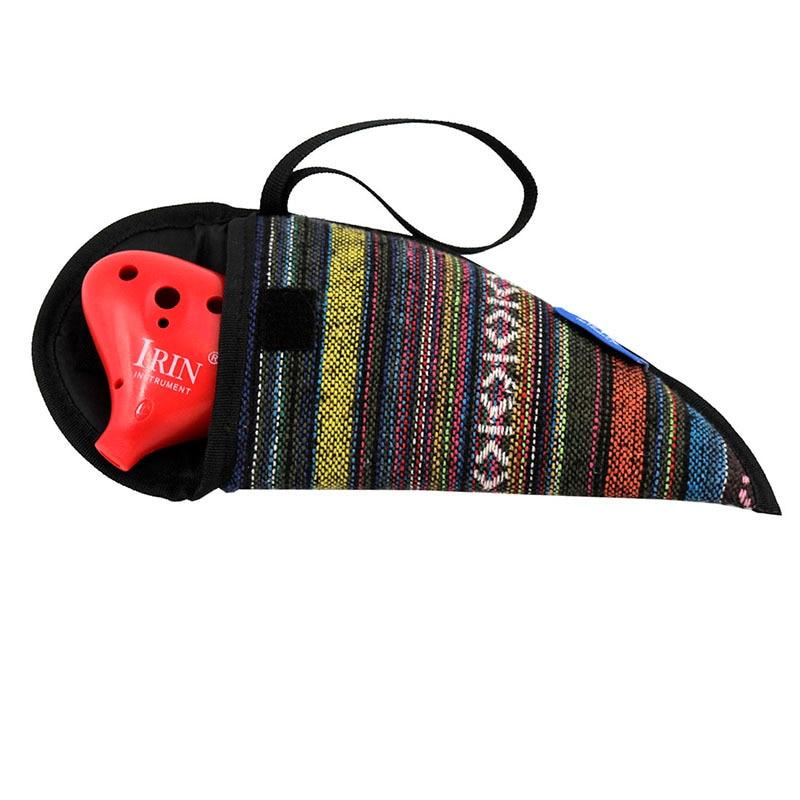 IRIN 12 Hole Ocarina C Tone ABS plastic flute National Ocarina Organ Package + Velvet Cloth Bag + Lanyard