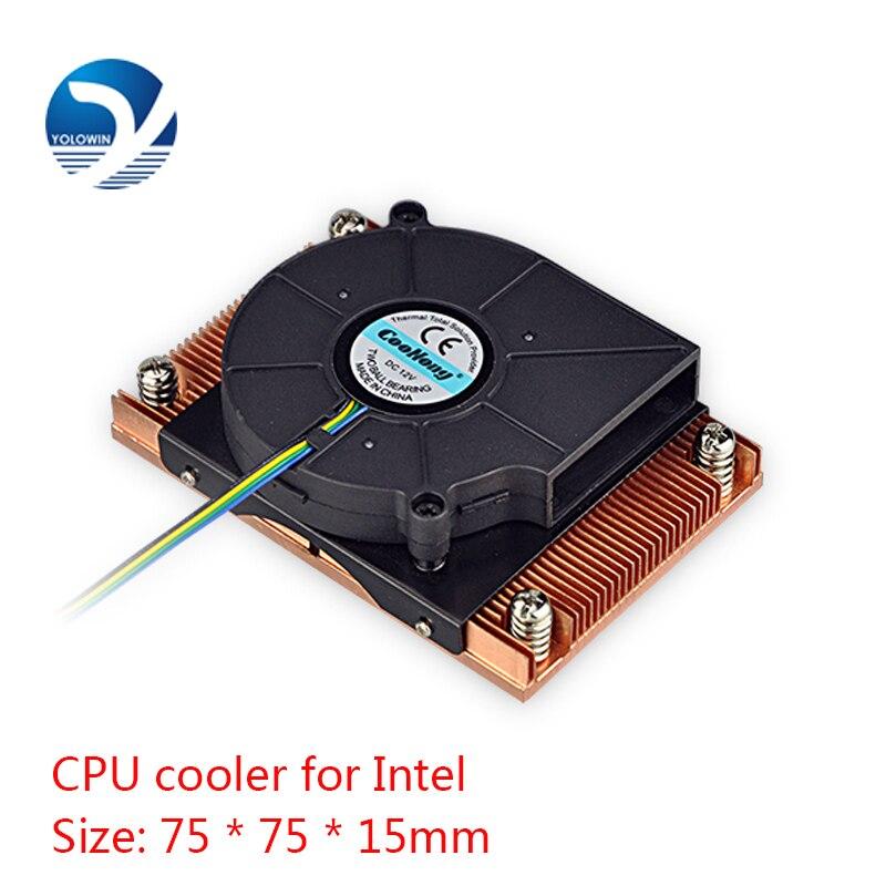 Image 5 - Активный радиатор компьютера охлаждения продуктов ЦП сервера кулер компьютера радиатор медь радиатор для Intel D9 01-in Вентиляторы и охлаждение from Компьютер и офис