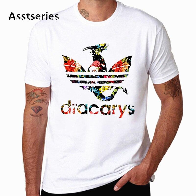 Dracarys рубашка Игра престолов бренд Ария Старк не сегодня Унисекс Мужская футболка Camisetas Hombre получил Топы И Футболки HCP4575