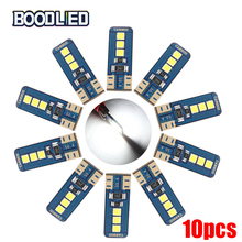 So.k 10Pcs Auto Car LED T10 CANBUS 194 W5W 6 Smd 3030 License Plate Lights White Interior Dome Map Reading Light Bulbs