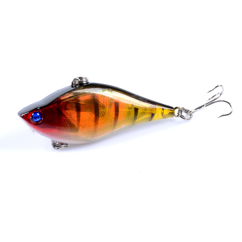 Road Lure Bait Vib 6cm 13 1g Fishing Accessories Fishing Tackle Outdoor Sports 3d Bionic Eye Wholeswimming Material fish lure in Fishing Lures from Sports Entertainment
