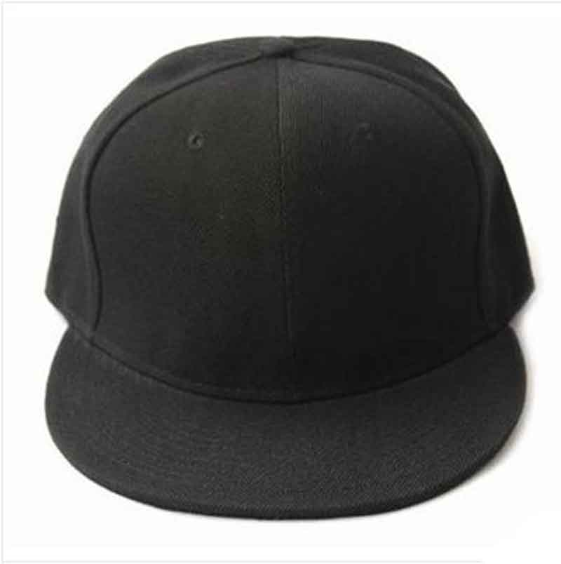 69c97f77 US $2.67 14% OFF Black Blank Plain Snapback Hats Hip Hop Adjustable Bboy  Baseball Cap Fashion Leisure Head Accessories Stylish men's Caps -in  Baseball ...