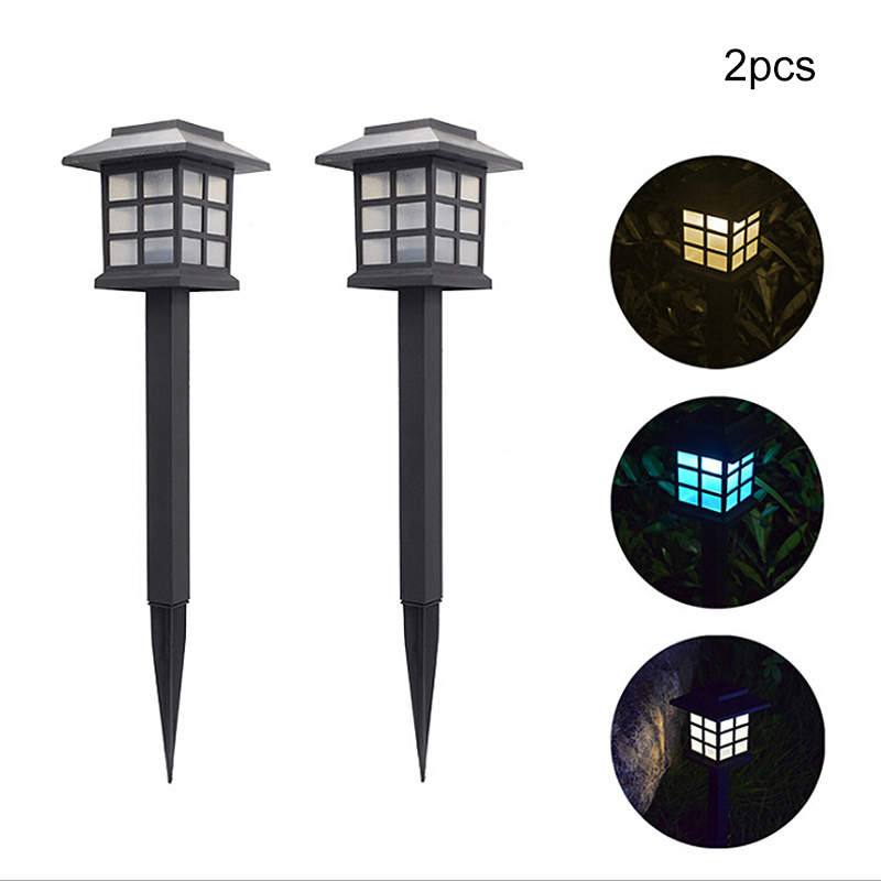 2 Pcs Solar Pathway Lights Outdoor Waterproof LED Solar Powered Garden Lights For Lawn Garden Landscape Path