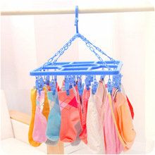 Free Shipping Thickening Overstretches Plastic Racks Hangers Clothes Pin Underwear Socks Drying Rack F4687