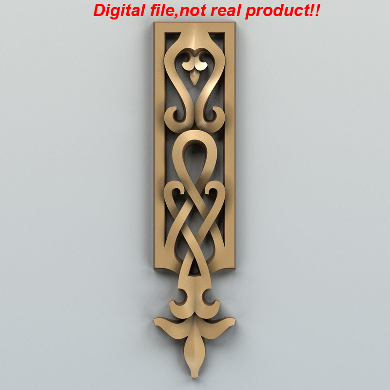 3D Relief Digital File For CNC Router Can Input Artcam Rhino-Carved Decor Vertical 003