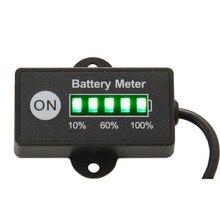 Батарея метр 12 В 24 В Батарея тестер Индикатор для автомобиля мотоцикла E велосипед ямы машина для гольфа мопед морской jet лыжи ATV