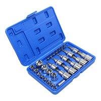 29PC Torx Socket Set of Tool Female Male Torx E & T Sockets Kit in a Case Mechanics Enginner Repair Tools