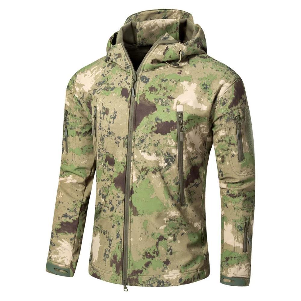 A TACS FG Camouflage Army Jacket Men Military Shark V4 5 Waterproof Soft Shell Outdoors Jackets