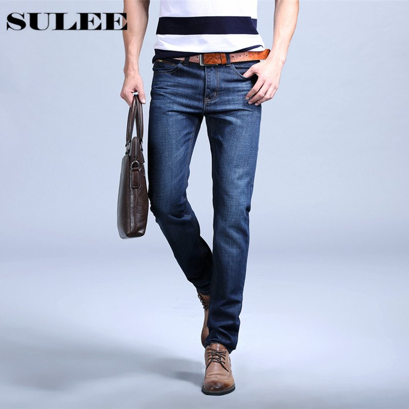 SULEE 2017 Brand Men Jeans  fine denim men's brand men's blue jeans large size Regular fit High quality all seasons famous brand jeans men straight denim classic blue jeans pants regular fit high quality plus size 28 to 40 sulee