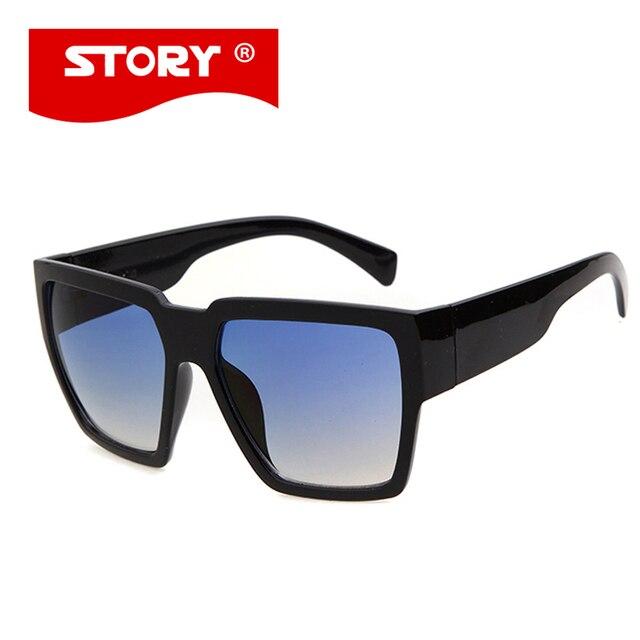 HISTOIRE Vintage Rétro Grand Cadre Carré lunettes de Soleil Hommes Femmes  Mode Style Couleur lentilles Lunettes 58181500364c
