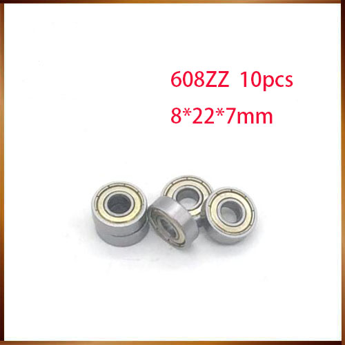 608z free Shipping 10PCS 608zz Bearing Abec-7  8x22x7MM Miniature carbon 608 Zz Longboard Skateboard Ball Bearings 608-2z 608z