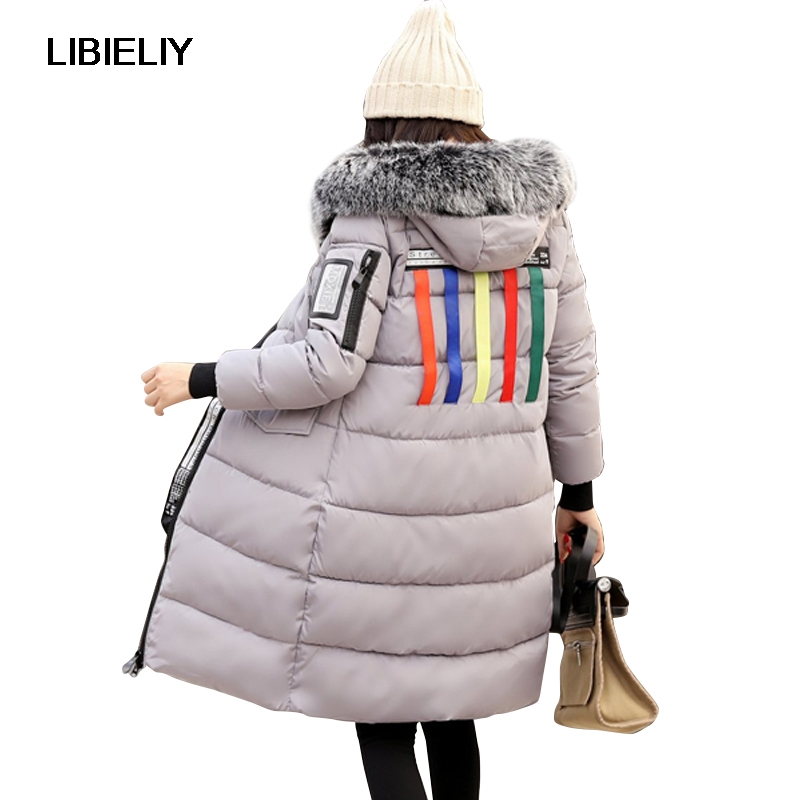 Nice High Quality Women Winter Long   Basic     Jacket   Plus Size 2XL Female Coat Ladies Warm Slim Cotton Padded Chaqueta Feminino