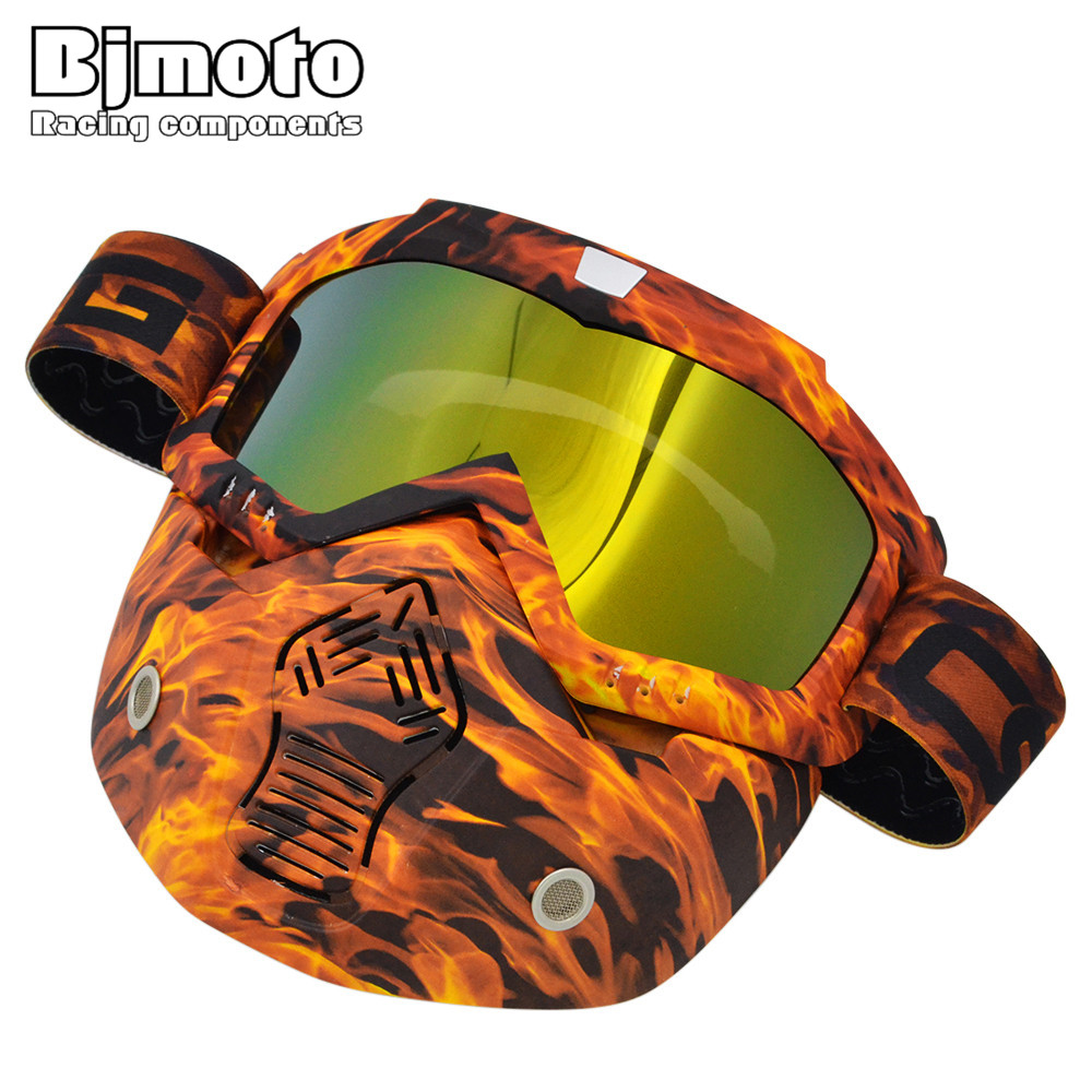 BJMOTO Hot Promotion Motorcycle Glasses Mask Gafas Motocross Goggles Fitting Open Face Capacetes Casco Dirt Bike Helmet Goggle