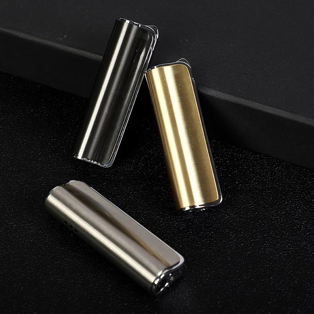 Mini Metal Torch Turbo Lighter Metal Lighter Gas Lighter Cigar Cigarette Lighters Smoking Accessories Gadgets For Men