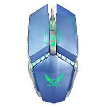 ZERODATE For Tablet Laptop PC X700 3200DPI Optical Wired Gaming Mechanical Mouse Blue