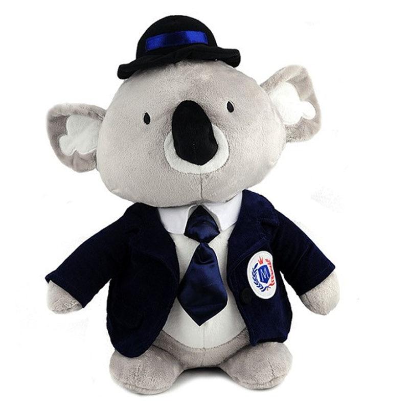 Jouet de bande dessinée environ 30 cm belles unités uniformes koala en peluche cadeau d'anniversaire h1004