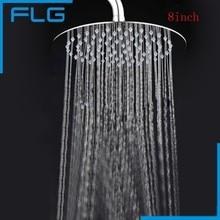8 inch round  bathroom stainless steel rain shower head stainless steel black bathroom ultrathin 2 mm rain shower head 8 10 12 inch wall
