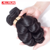 ALLRUN Brazilian Loose Wave Remy Hair 1 PCS 100 Human Hair Bundles 14 22 Inch Natural