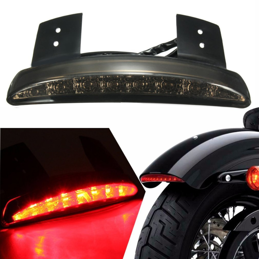 New Motorcycle Brake Light Motorbike Tail Light Rear Fender LED Break Stop Lamp Refitting Accessories For Harley XL883/1200LED brand new silver color motortcycle accessories abs plastic led tail light fit for harley harley iron 883 xl883n xl1200n chopped