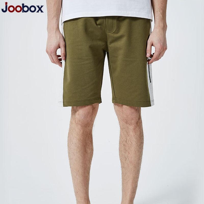 JOOBOX 2018 New Mens Shorts Summer Solid Casual Men Cargo Shorts Cotton Slim Masculina Beach Shorts Joggers Trousers Shorts Male