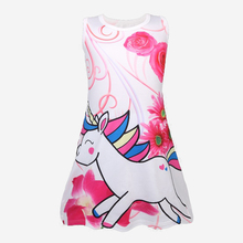 Baby girl clothes unicorn dress kids dresses for Girls cosplay costume Party 1738