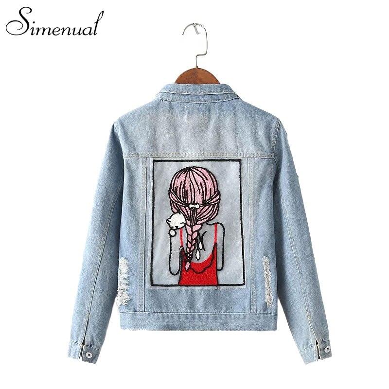 Aliexpress.com : Buy Autumn winter new jean jacket female cartoon ...