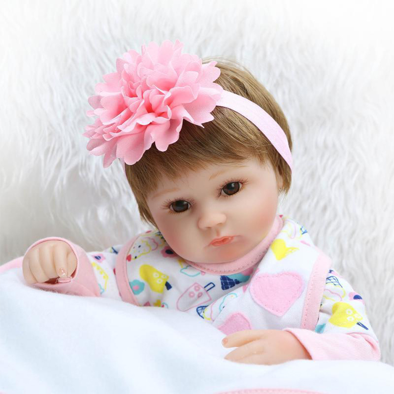 Lovely Realistic Doll Reborn Baby Lifelike Toy for Girls Boys Home Decoration Vinyl Fashion ...