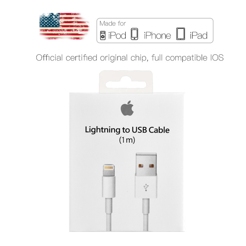 huge discount b440a ce58b USB Charging Cable For iPhone 6S XS Max XR X Original Chip Data Sync Cable  for iPhone 6 6S 7 8 Plus 5 5S USB Phone Charger Cable
