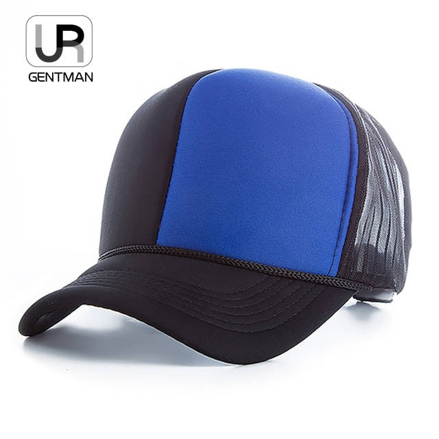Unisex Two Color Patchwork Design Baseball Cap Summer Mesh Cap Adult Cool  Snapback Hats 6af874c25bc