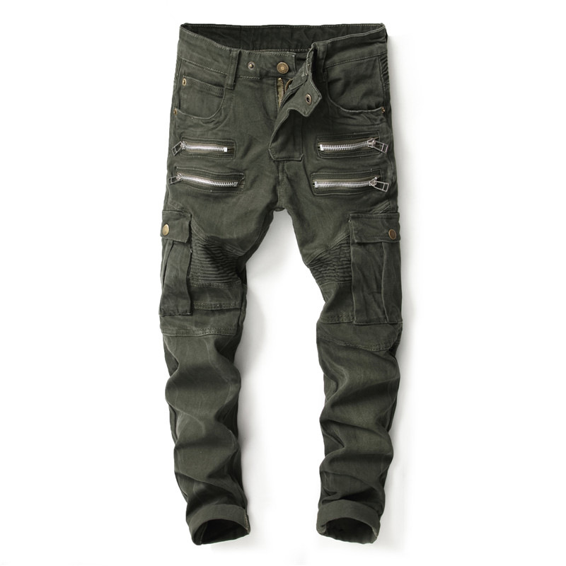 European American style Men's jeans fashion brand casual denim trousers jeans army green luxury Slim Straight jeans men european style 2016 new fashion jeans men print flowers slim trousers casual straight brand design skinny pants hot sales 0245