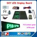 Полу-открытый p10 зеленый цвет водонепроницаемый программируемый реклама из светодиодов табло поддержка языков 24 * 104 см