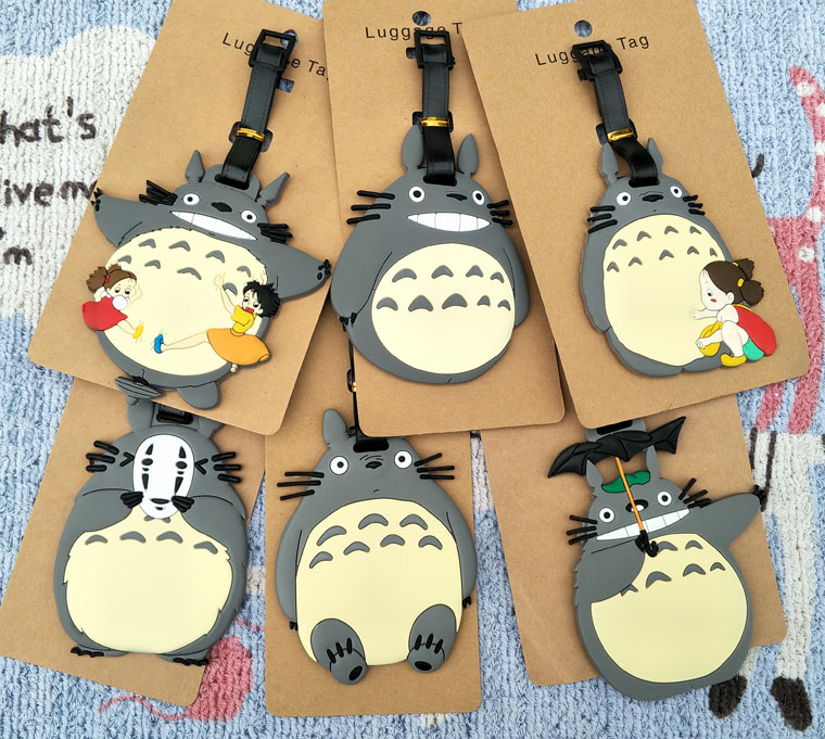 IVYYE Totoro Girl Anime Travel Accessories Luggage Tag Suitcase ID Address Portable Tags Holder Baggage Label New