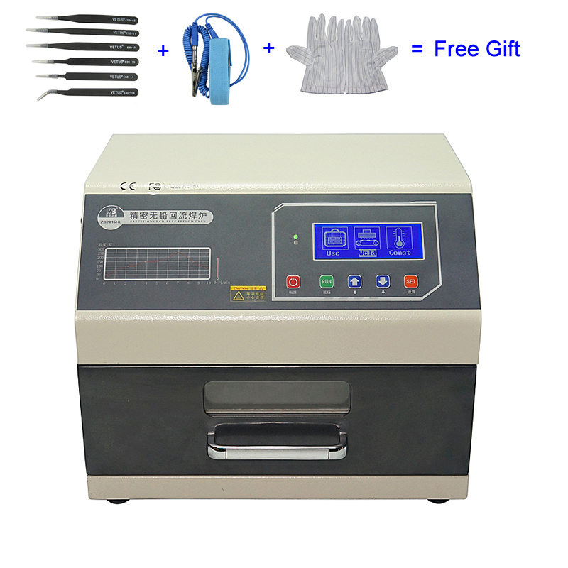 LY 962 Digital Display SMD SMT Reflow Oven Programmable Mini Reflow Soldering Oven 700W 110V 220V-in Soldering Stations from Tools