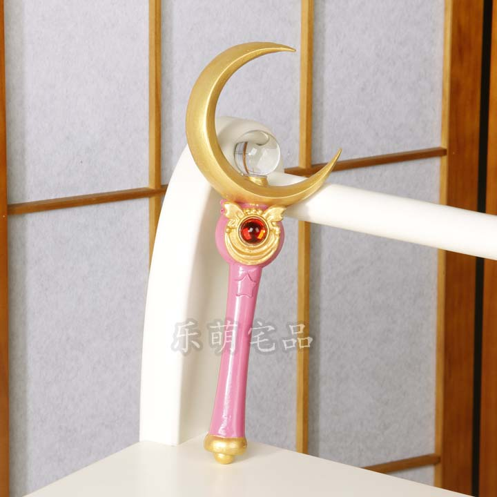 Сейлор Мун 9 цветов Лоб V реквизит и Usagi Tsukino Луна тростник мощность палочка - Цвет: The Cane