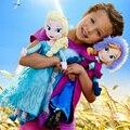 2 unids/set 50 cm juguetes para niñas Princesa Anna y Elsa muñeca caliente de la venta peluches Boneca 50 cm juguetes de peluche Princesa envío gratis