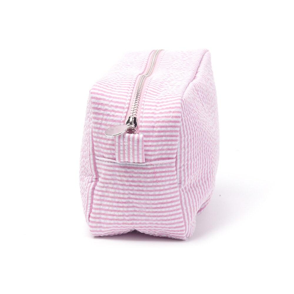 Seersucker red Großhandel 21 2 4 Dom106059 6 Hochzeit Navy pink Make kiwi assorted 15 aqua Zubehör up Farben Rechteck Rohlinge 5 Tasche purple Kosmetiktasche Geschenk Striped 9 Awr48qYIx4