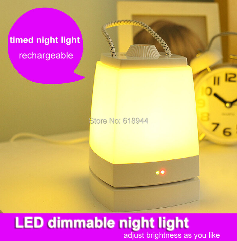 Only 0.9w timer rechargeable led night light adjust brightness energy-efficient smart night lights energy efficient architecture